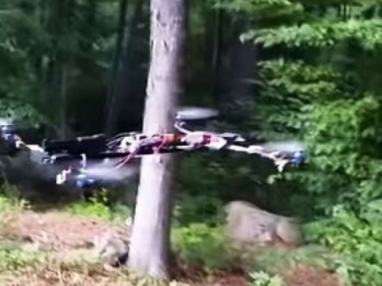 Dron spadol do lesa a spôsobil požiar