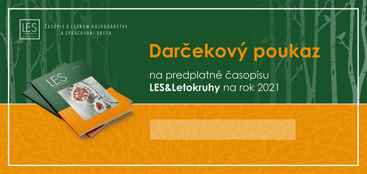 DARČEKOVÝ POUKAZ na ročné predplatné časopisu LES & Letokruhy na rok 2021